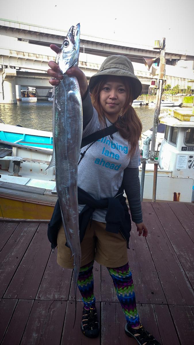 東京湾タチウオジギング タチウオ113cm